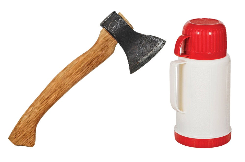 hatchet and thermos