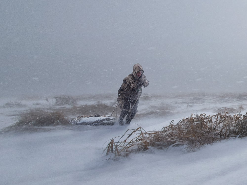 Duck and Deer Hunters in the deadly winter