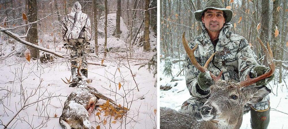Joe Denitto showcasing a mature Adirondack buck