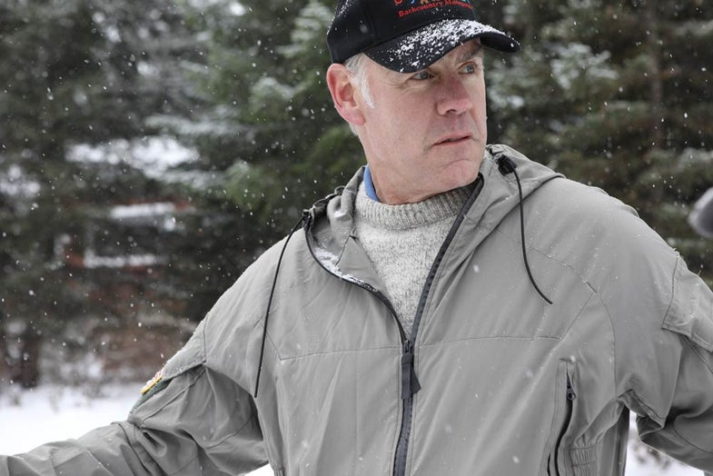 ryan zinke outdoors in the snow