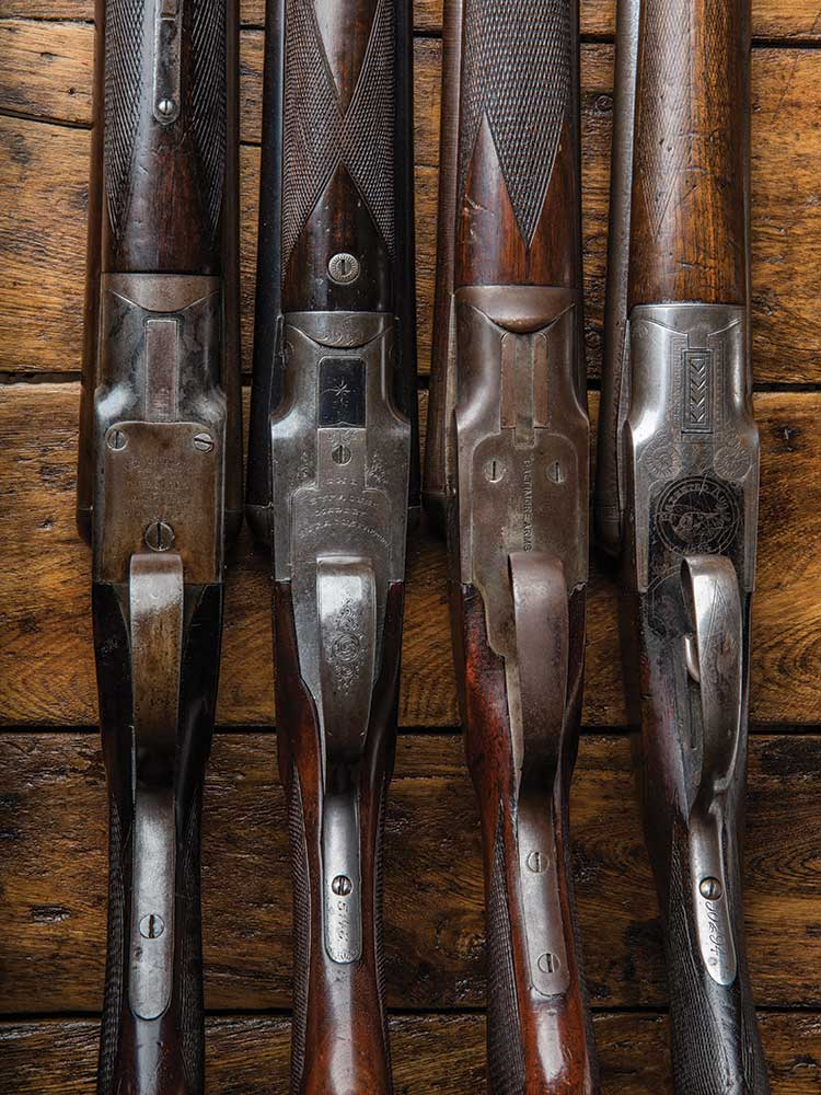 American Arms Co., A.E. Whitmore Pat. Hammerless (Mfg. 1888), Syracuse Arms Co., Syracuse, Grade AE (Mfg. 1896), Baltimore Arms Co., Grade A (Mfg. 1902?), Baker Gun & Forging Co., Grade C boxlock (Mfg