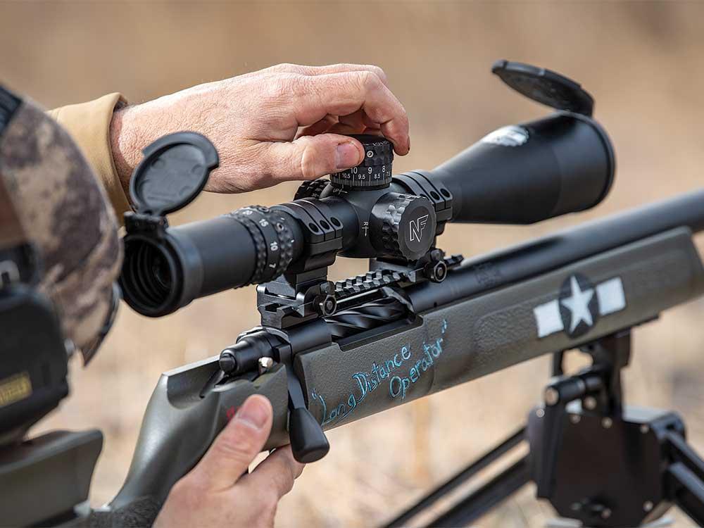 nightforce 7 rifle scope on long range rifle