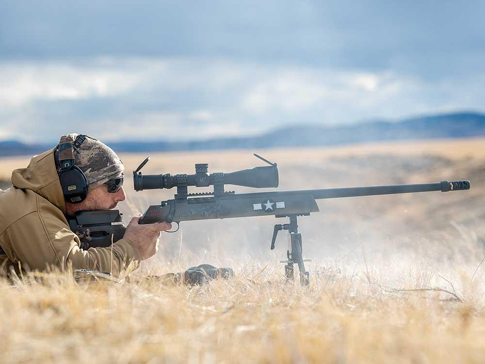 aiming a long range precision rifle using bipods