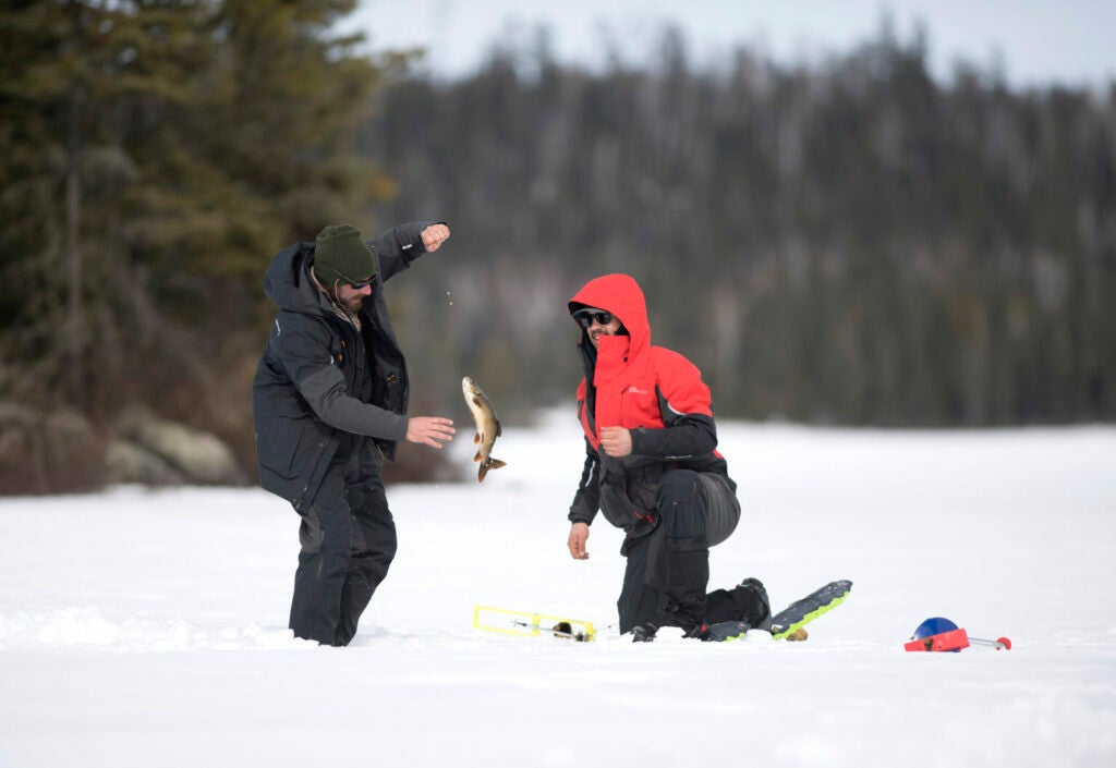 ice fishing boundary waters
