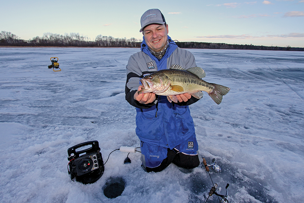 How to Catch Largemouth Bass on the Ice this Winter