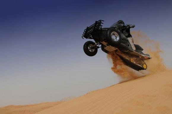 Sand-X Tops out at 115 mph, is the World's Fastest Tracked ATV