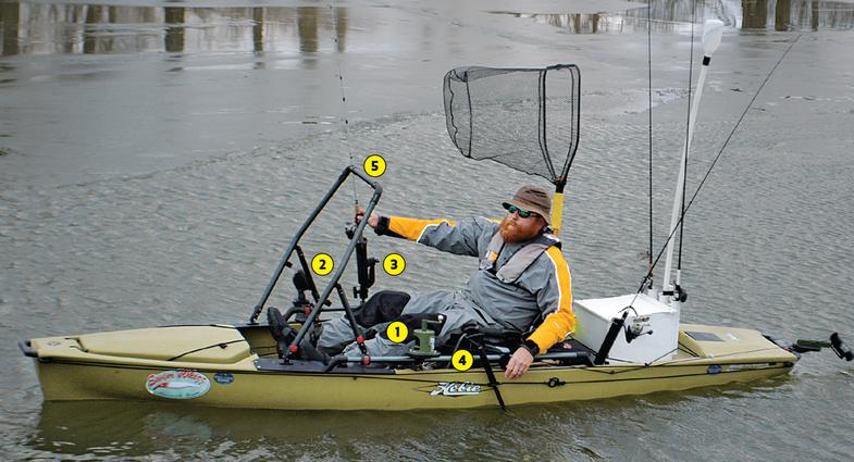 kayaks, kayak fishing, kayak upgrades, kayak anchor, Mike Iaconelli, rod holders, stake-out pole