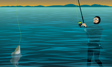 Skishing: Taking on Deep Water and Big Fish in a Wetsuit