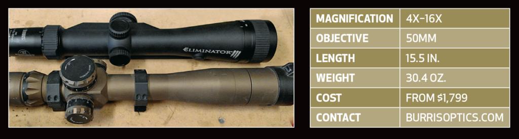 riflescope, scope, rangefinder, rangefinding riflescope, scope-rangefinder, burris eliminator III