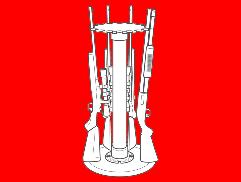pvc gun rack