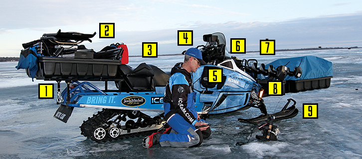 Trick Out a Snowmobile to Turn It Into an Icefishing Machine