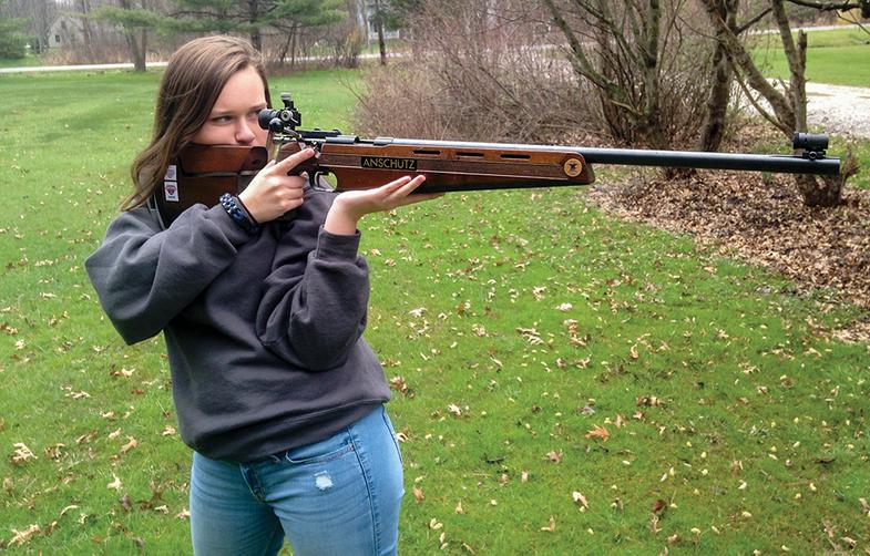 annabelle stanec, precision rifle shooting, gun club team, air gun championship