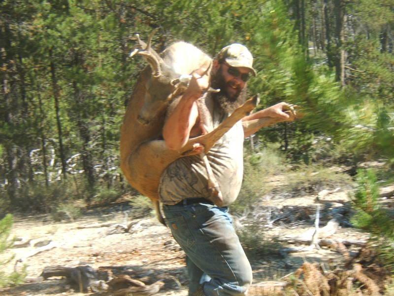 Full deer on your back.