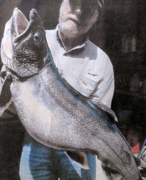 Massachusetts record lake trout, Mass. record lake trout, record lake trout, Massachusetts record fish, state record fish, state record lake trout, William Roy
