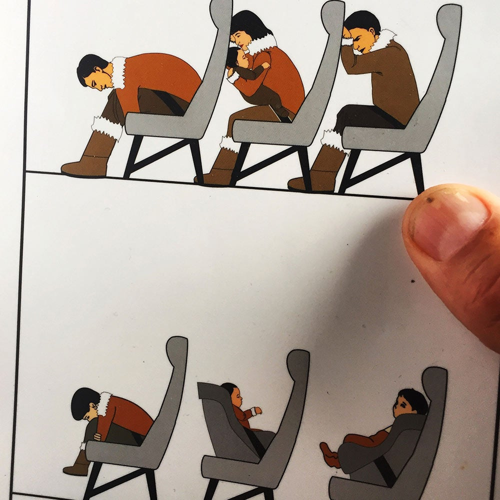 airline safety cards north
