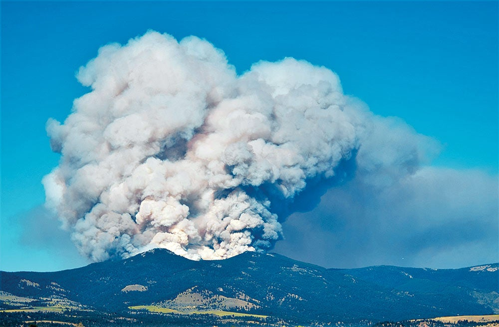 Out of control wildfire idaho