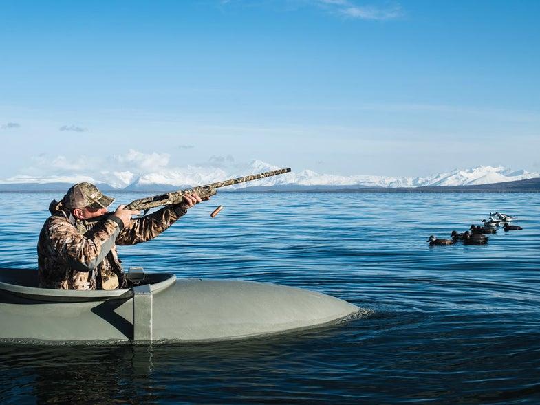 waterfowl hunting from kayak