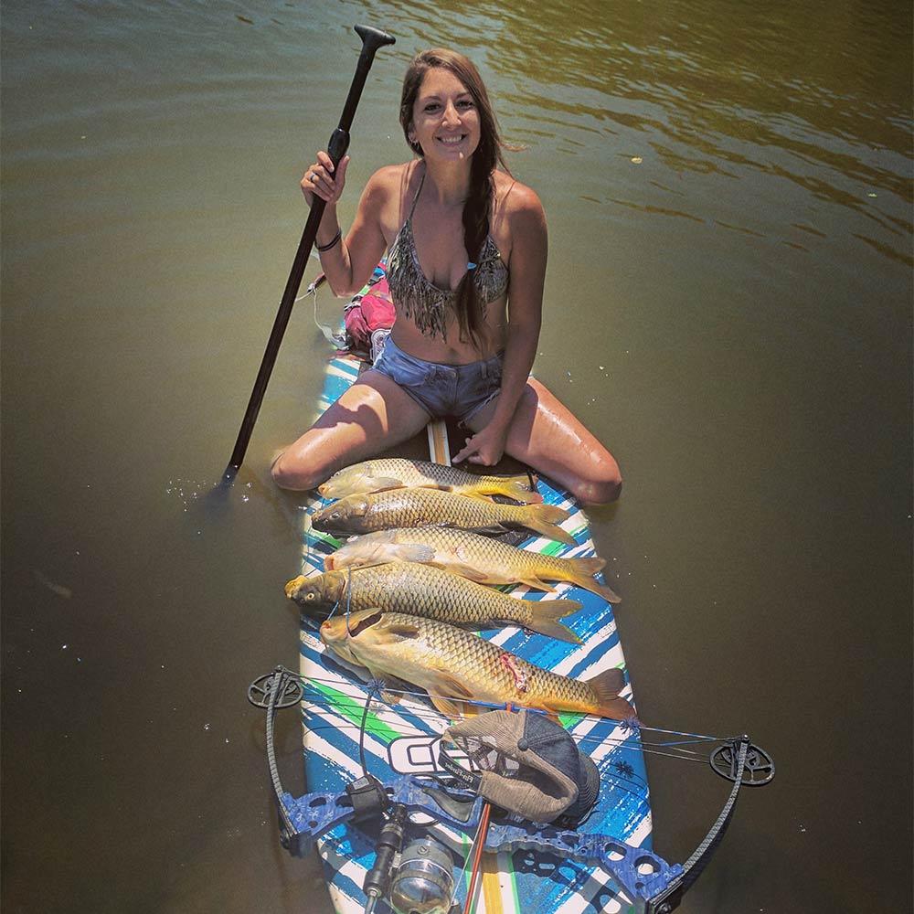 bowfisher on paddleboard