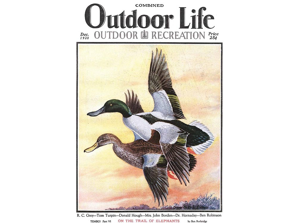 December 1928 cover of Outdoor Life