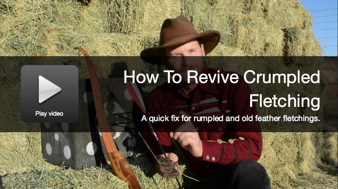 Video: How To Revive Feather Fletching On Your Arrows