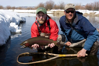Spring Snow and Big Trout