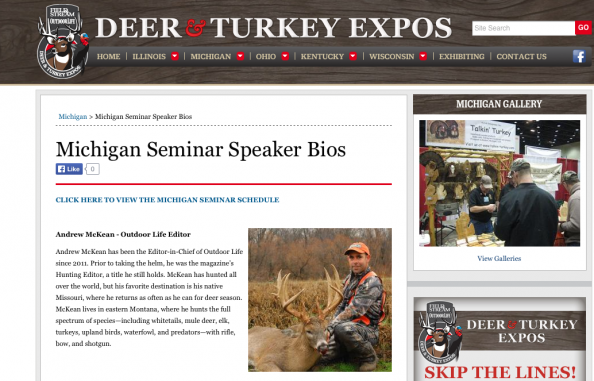 Bring Your Questions to Michigan Deer & Turkey Expo