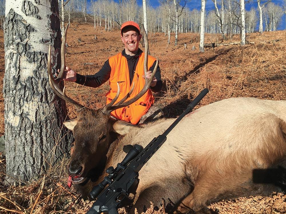 Bruce Beaman and his bull elk