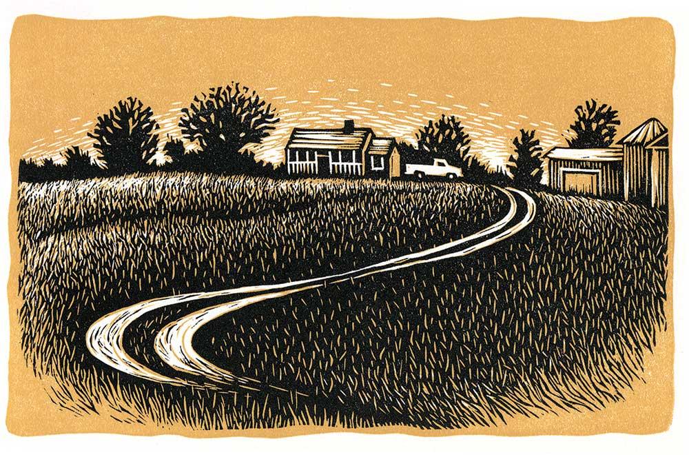 family farmland illustration