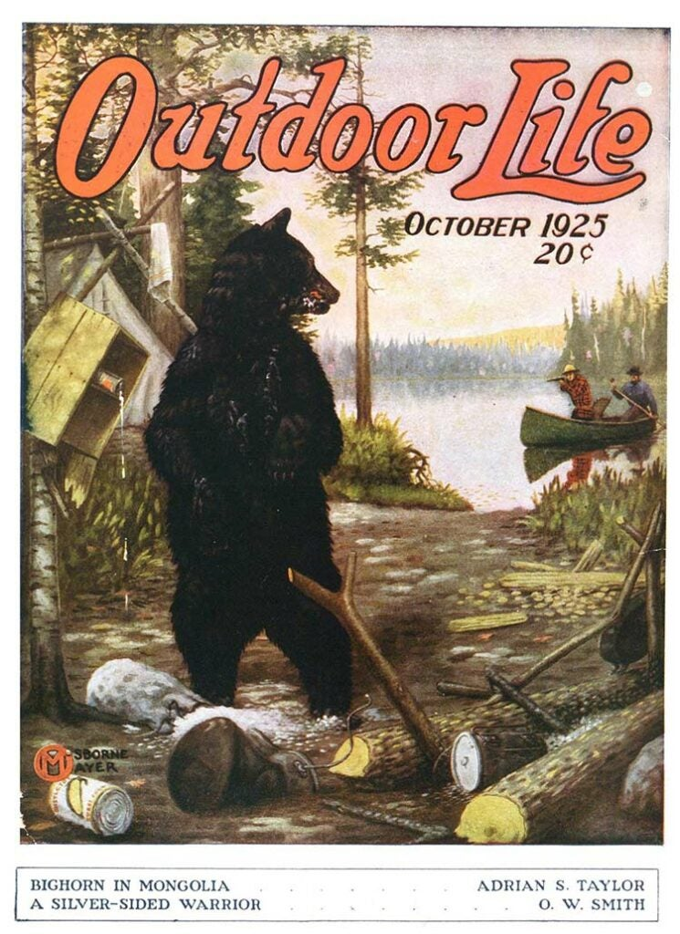 Cover of the October 1925 issue of Outdoor Life