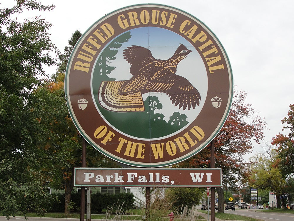 Ruffed Grouse Capital of the World sign