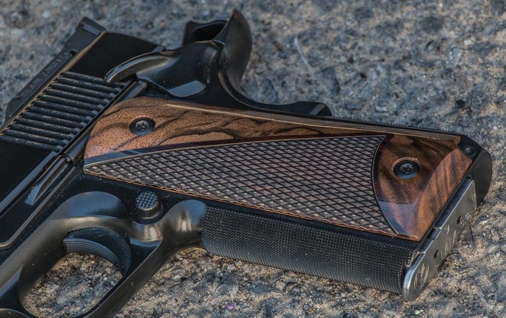 custom wood handgun grips