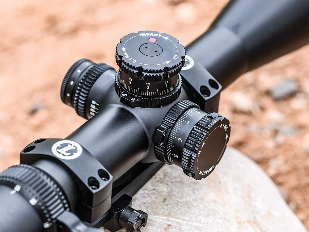 close pu of rifle scope parts