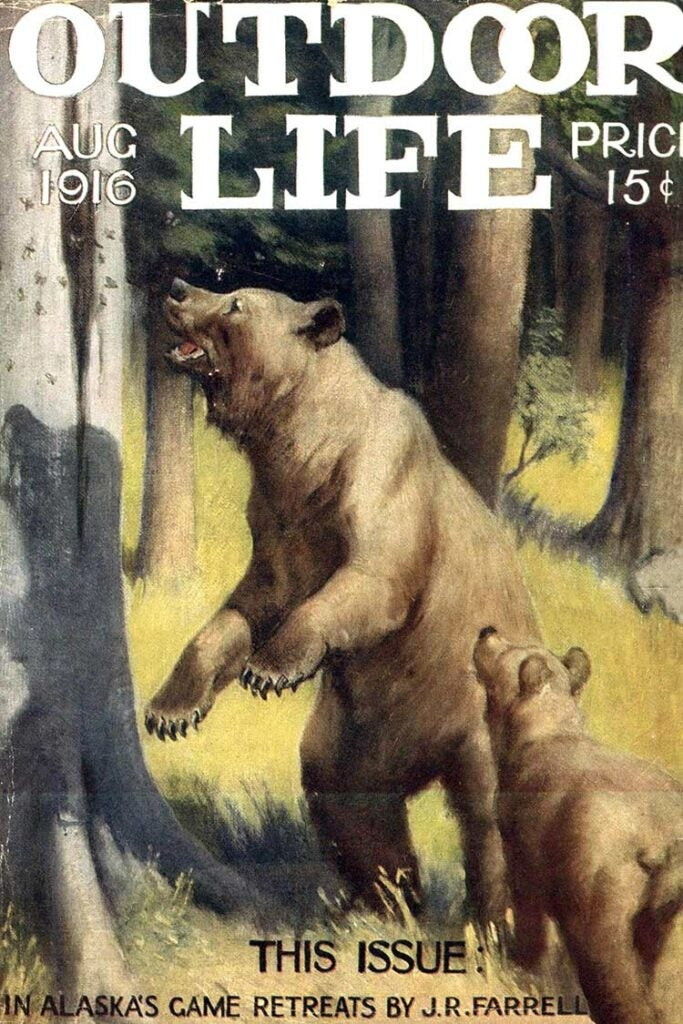 Cover of the August 1916 issue of Outdoor Life