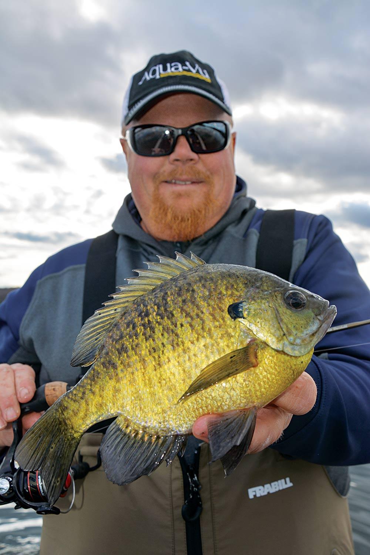 Brian Brosdahl panfishing for bluegill