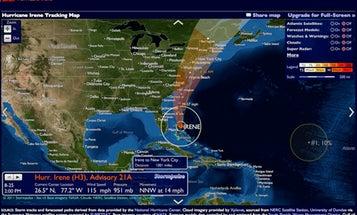 Track Hurricane Irene with Stormpulse