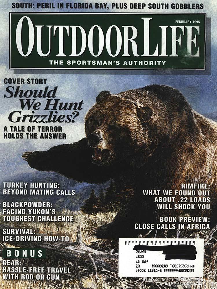 February 1995 cover outdoor life magazine