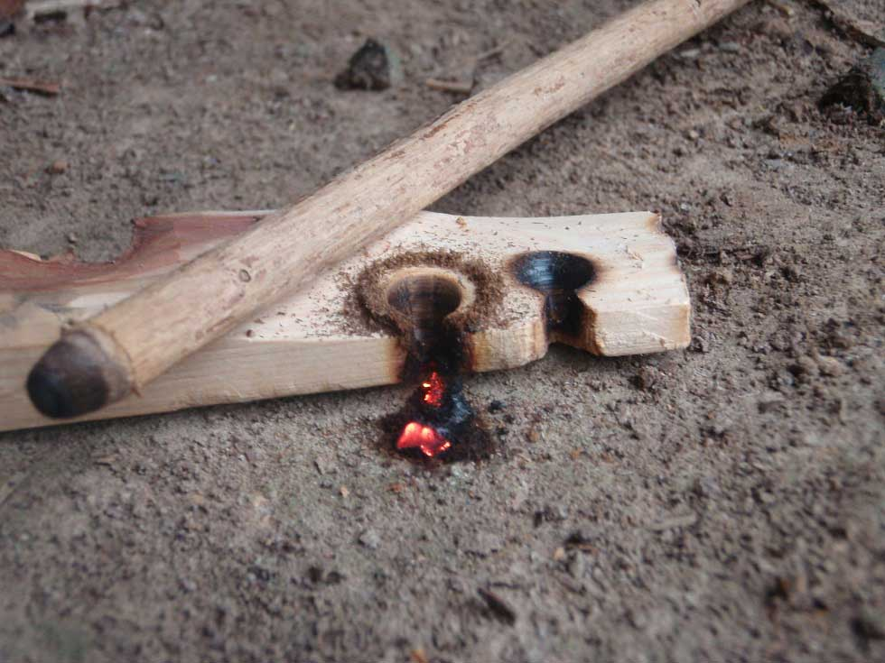 bow drill ember