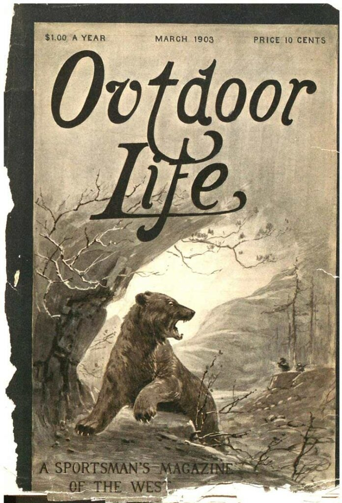 Cover of the March 1903 issue of Outdoor Life