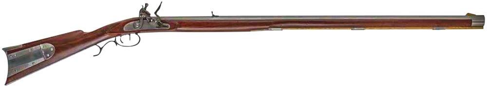 An old-school .54-caliber Lancaster-style flintlock