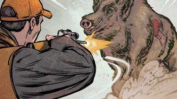 illustration of hog hunter