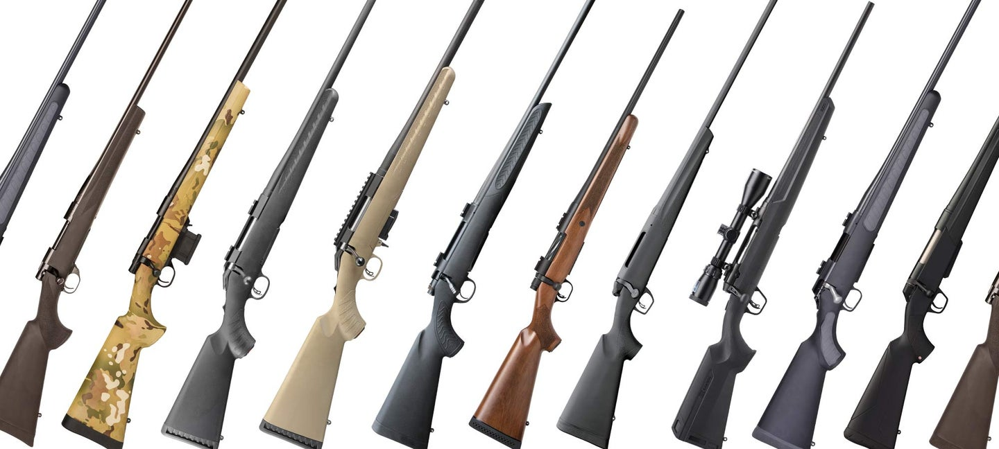 collage of bolt-action rifles