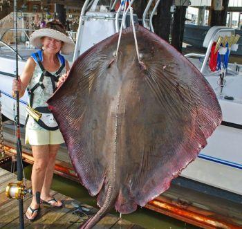 Louisiana Woman Lands Record 185-Pound Stingray