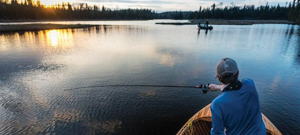 lake fishing for northern pike