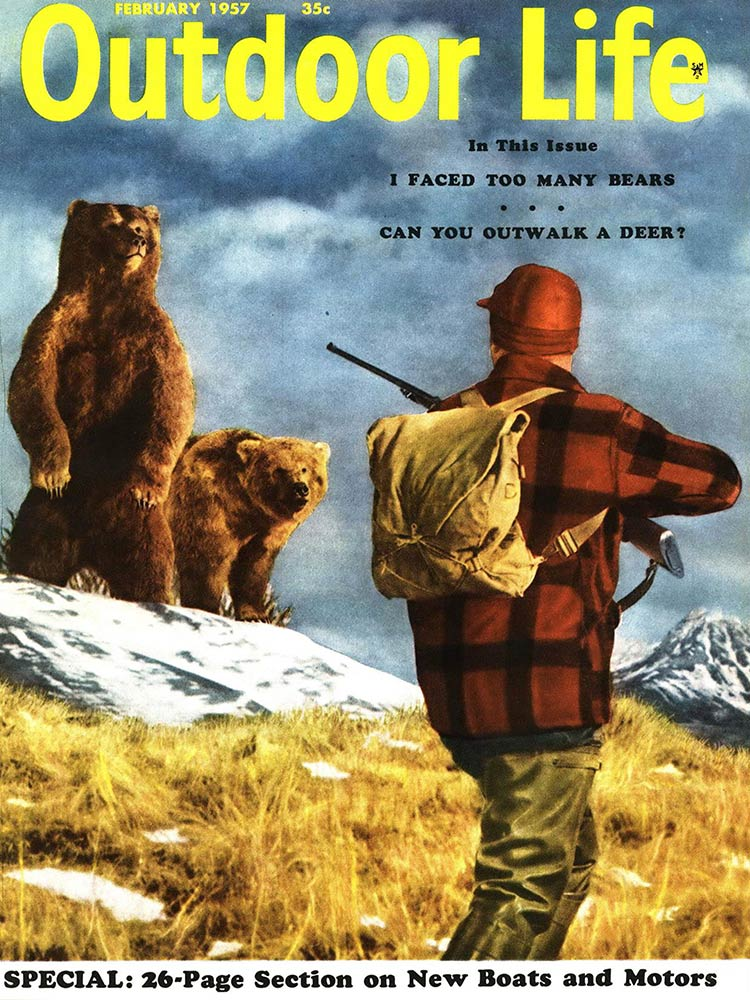 February 1957 Cover of Outdoor Life