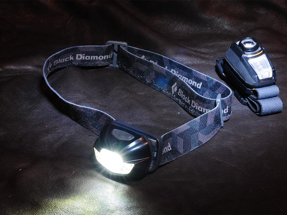 two headlamps