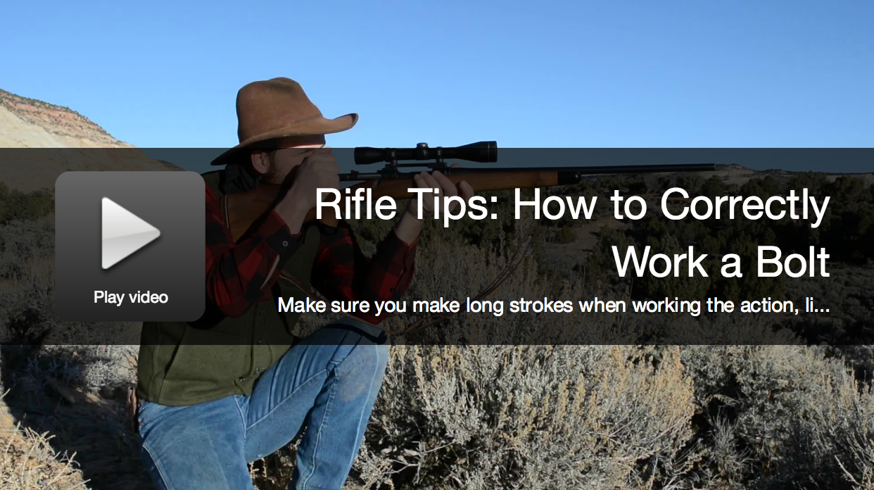 Video: How to Correctly Run a Rifle Bolt