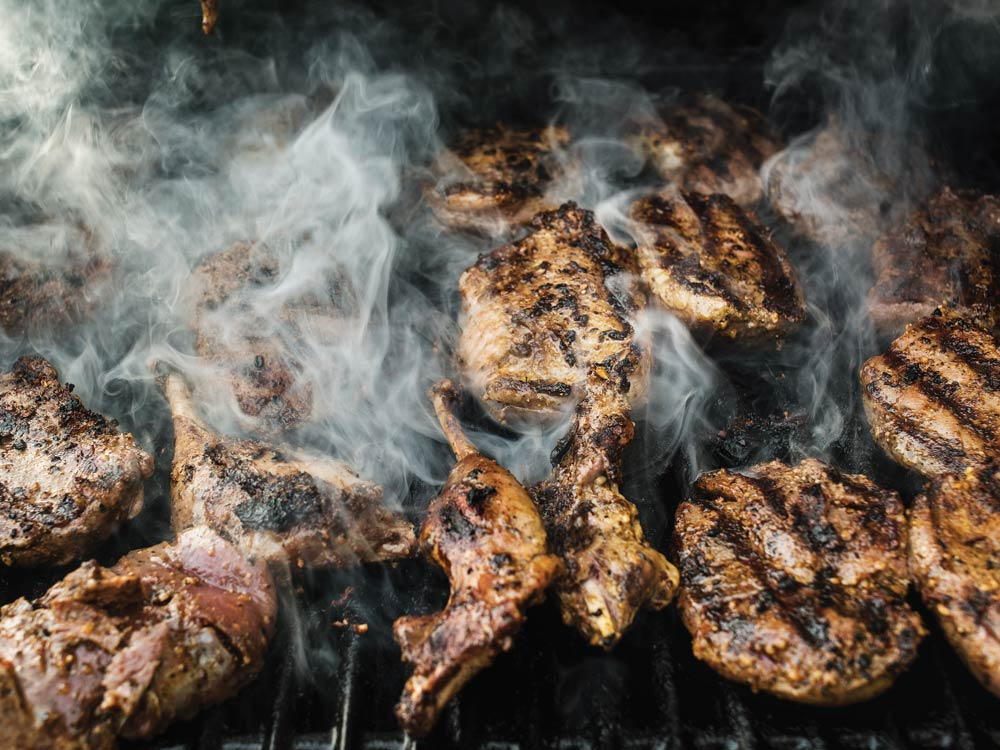 Brant breats and legs on the grill