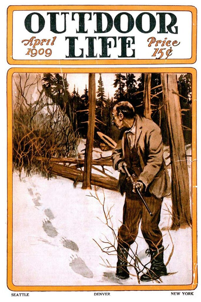 Cover of the April 1909 issue of Outdoor Life