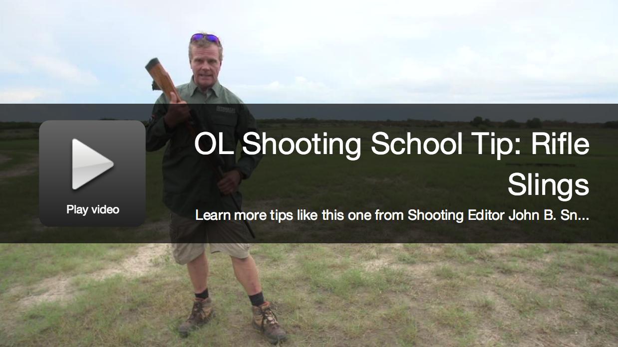Shooting School Tips: Using a Rifle Sling