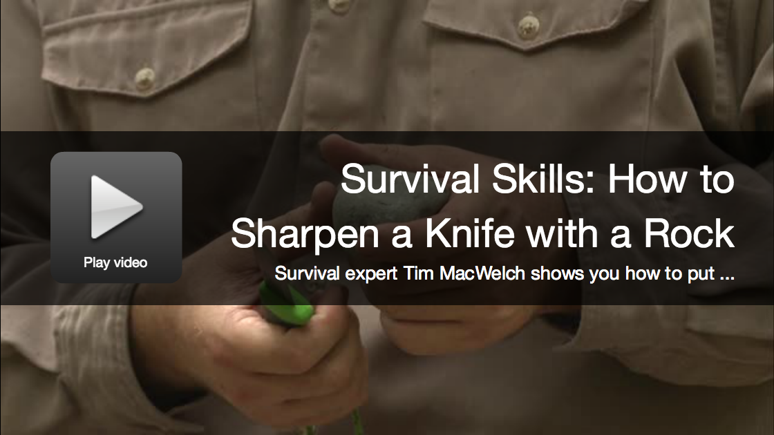 Video: How to Sharpen a Knife with a Rock